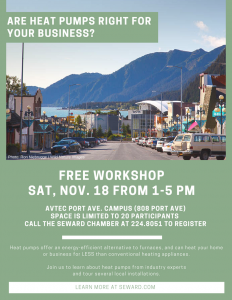 Are Heat Pumps Right for Your Business? **Free workshop** @ AVTEC Port Ave Campus | Seward | Alaska | United States
